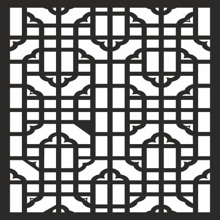 Geometric Square Jali Design File Free CDR Vectors Art