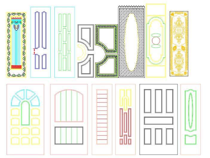 Interior Door Panel Designs File Free CDR Vectors Art