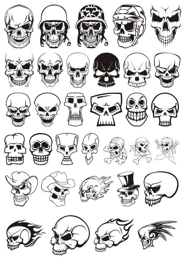 Skull Demon Or Evil Horror Pack File Free CDR Vectors Art