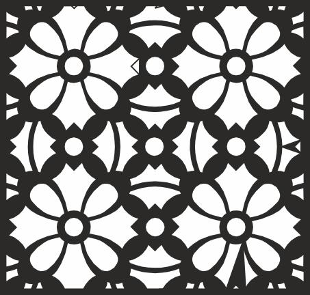 Square Floral Pattern File Free CDR Vectors Art