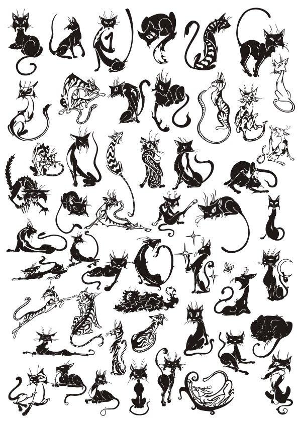 Cats Set File Free CDR Vectors Art