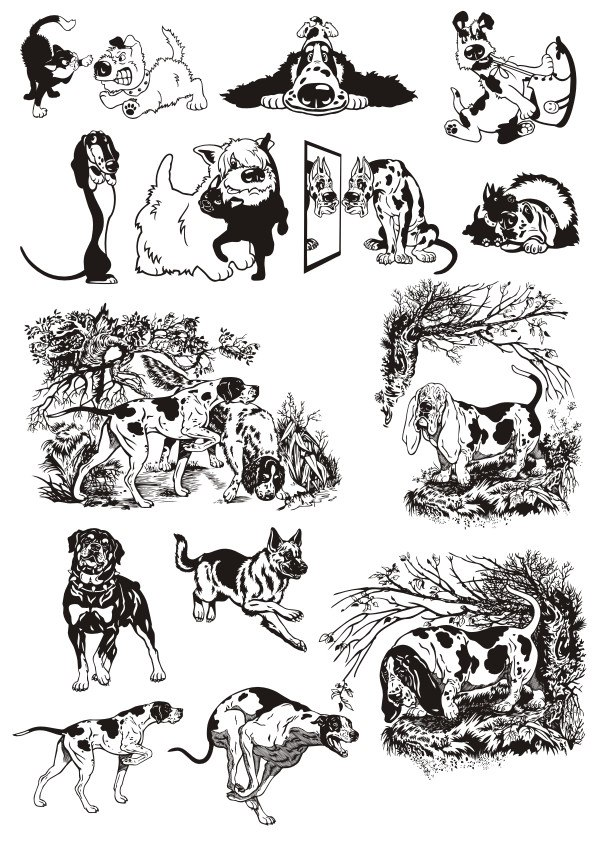 Dogs Stickers File Free CDR Vectors Art
