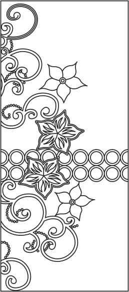 Floral Design Wardrobe Door File Free CDR Vectors Art