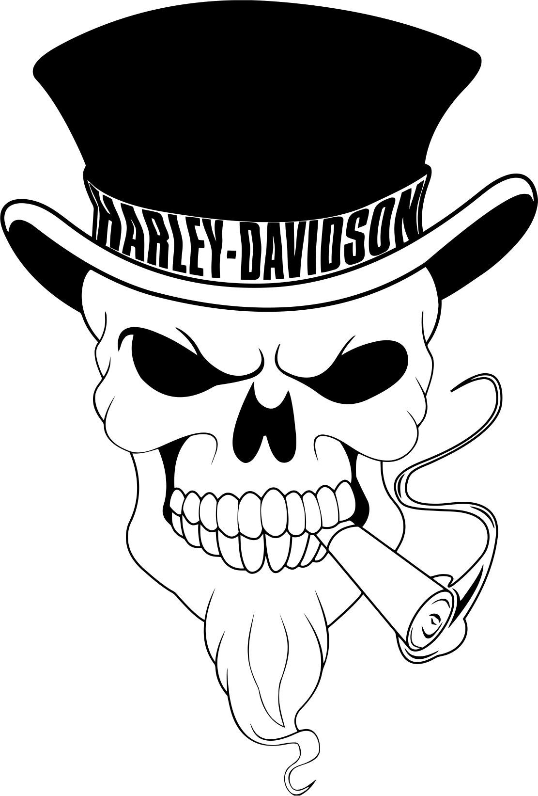 Harley Davidson Skull File Free CDR Vectors Art