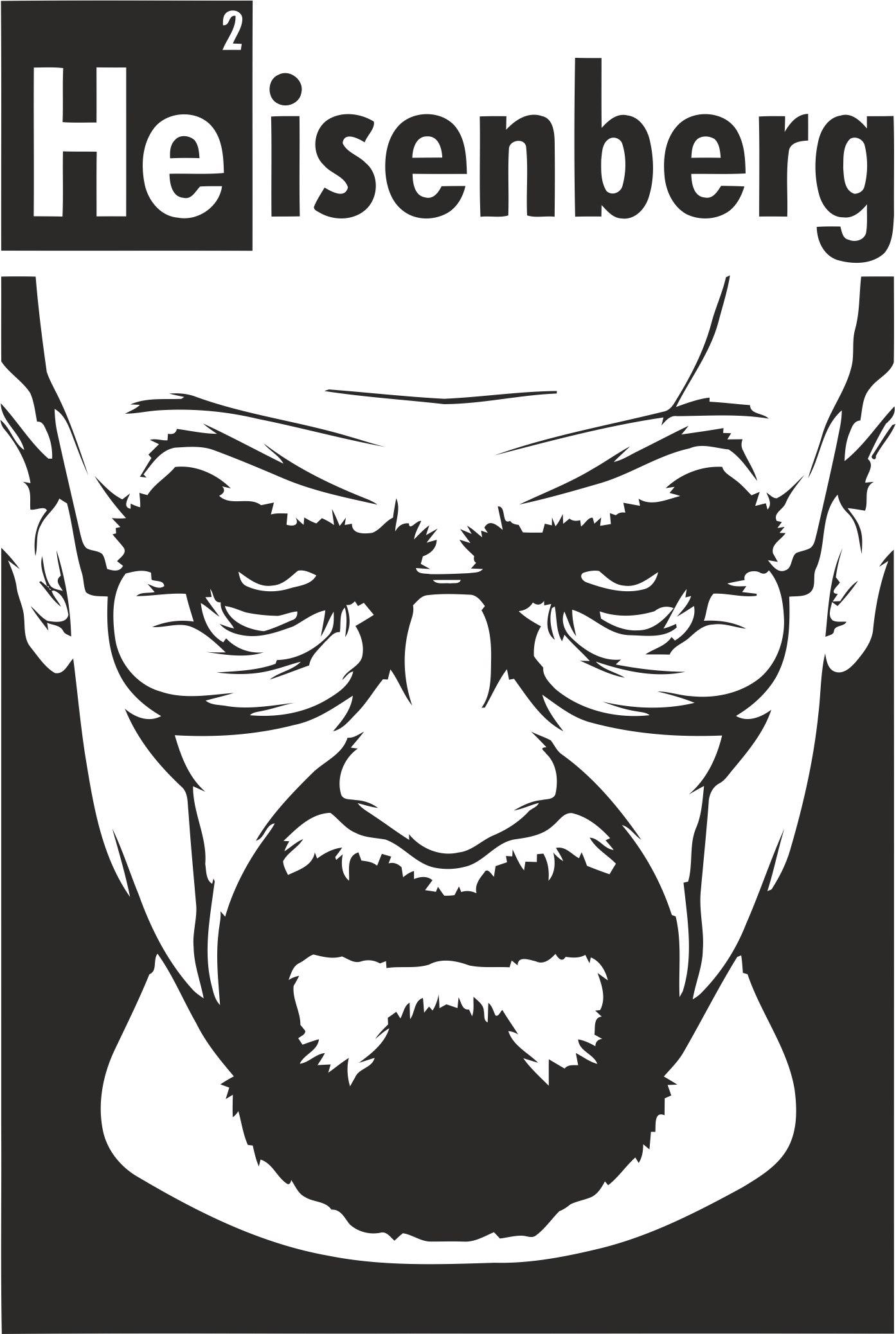 Heisenberg Print File Free CDR Vectors Art