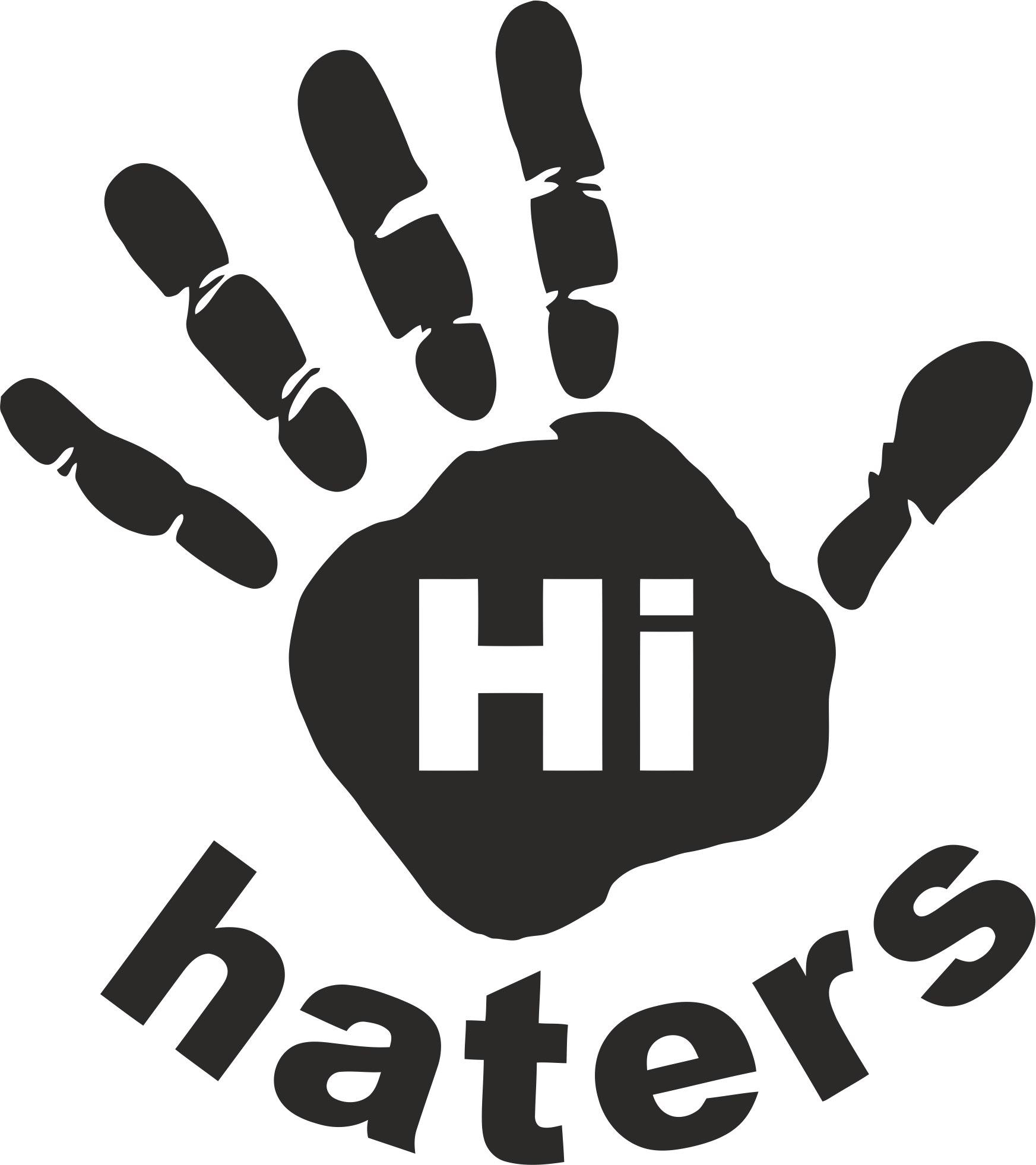 Hi Haters Decal File Free CDR Vectors Art