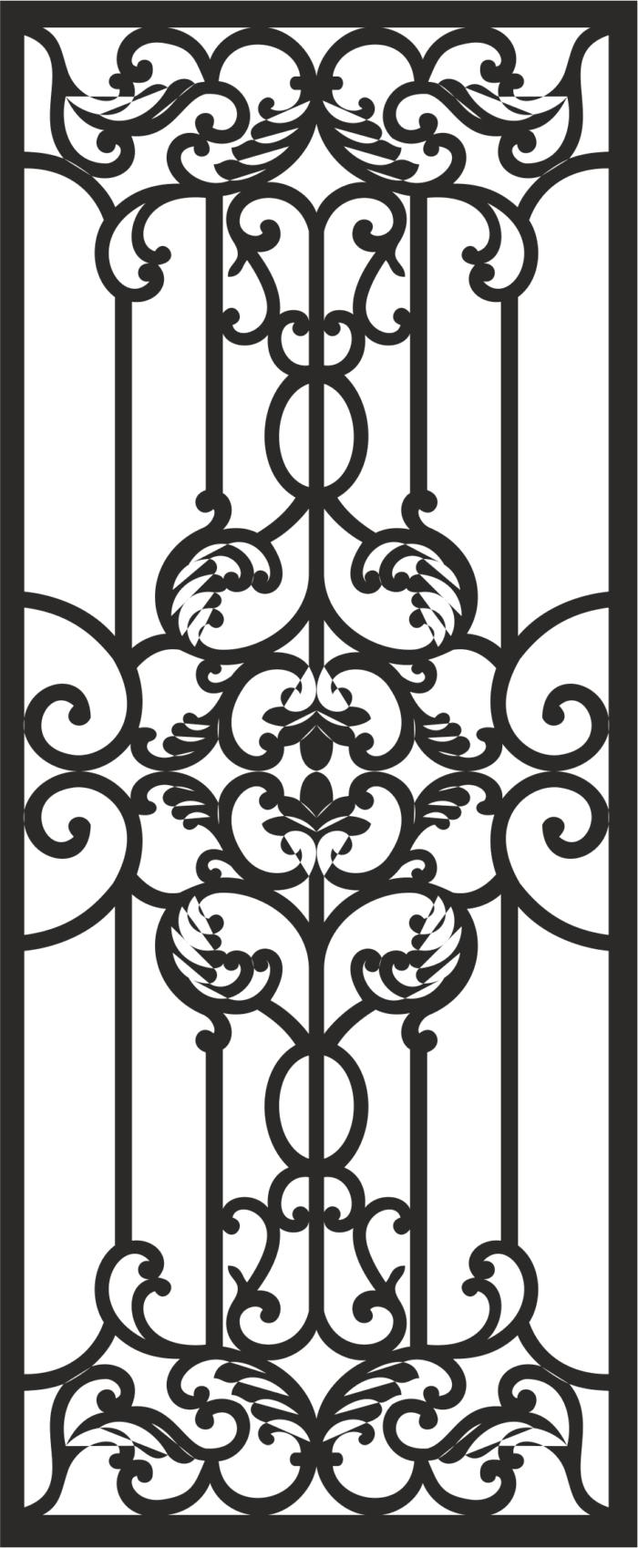 Home Iron Grills Design File Free CDR Vectors Art
