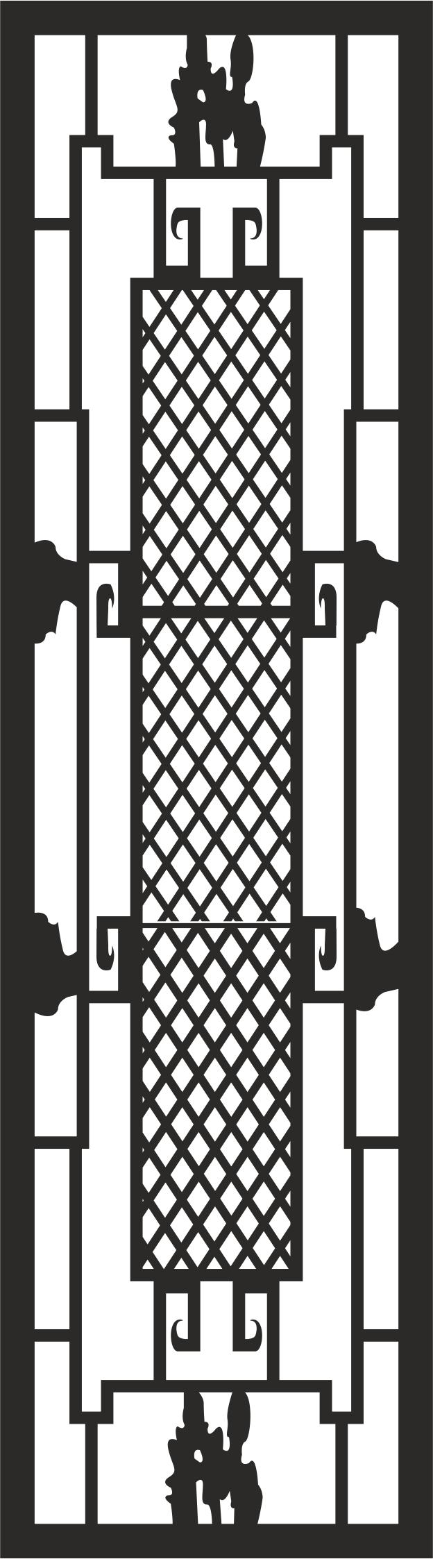 Iron Window Grill Design File Free CDR Vectors Art