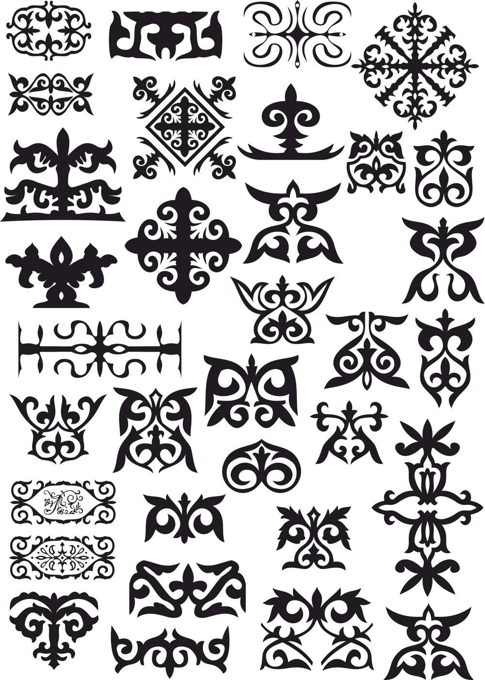 Kazakh Patterns File Free CDR Vectors Art