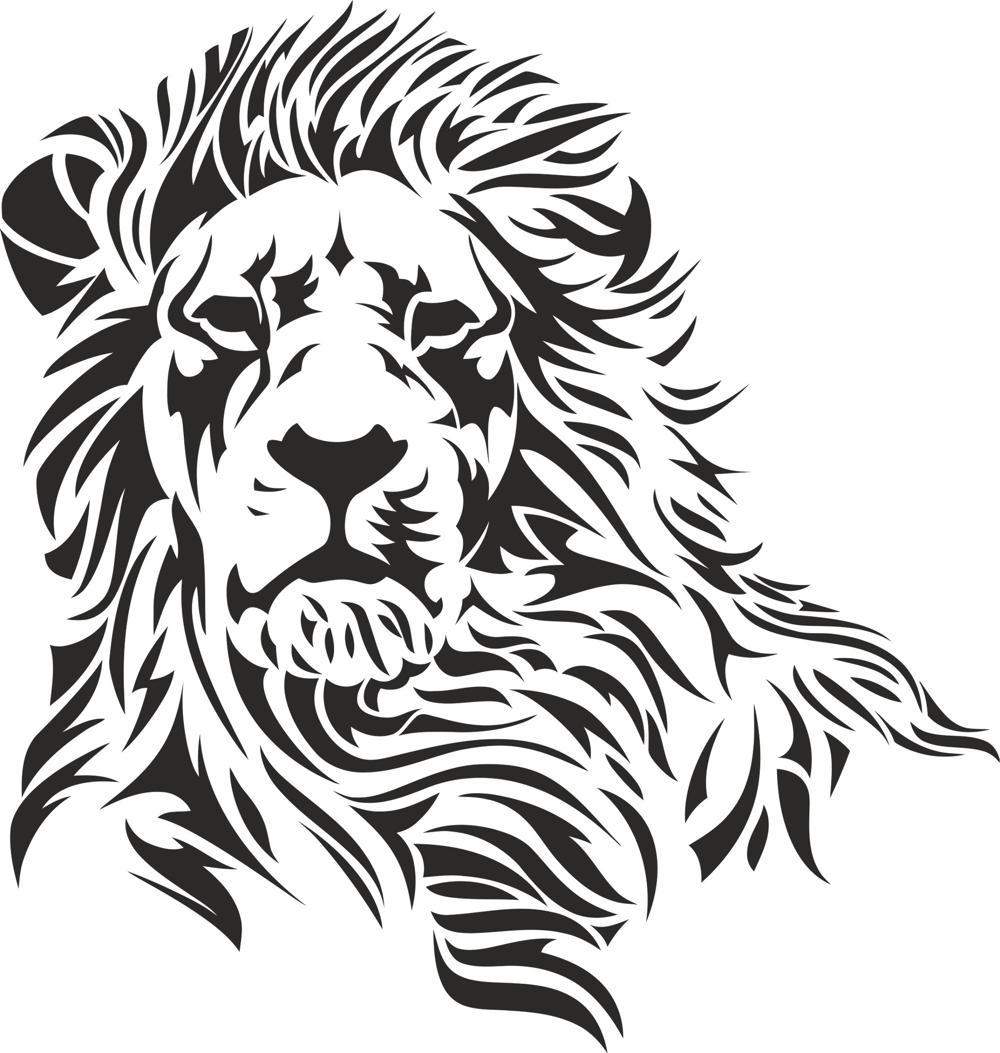 Lion Stencil File Free CDR Vectors Art