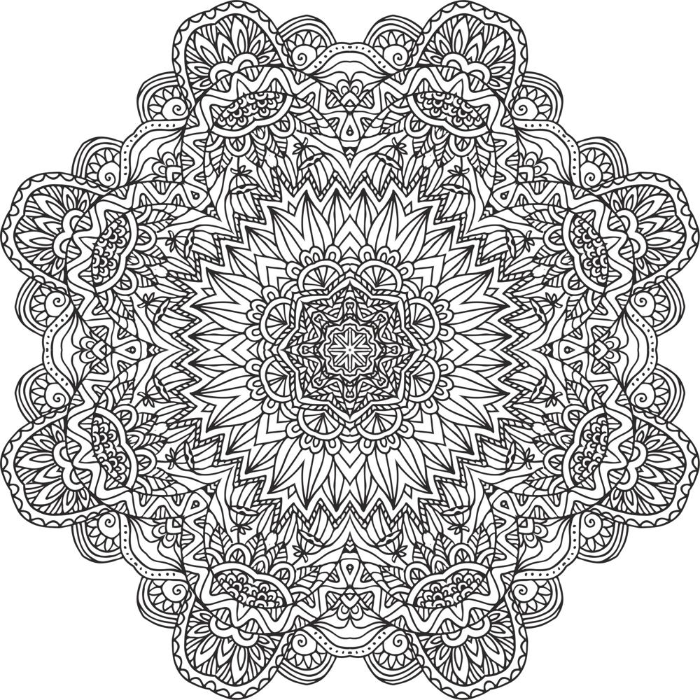 Mandala Flowers Setncil Free Vector Free CDR Vectors Art