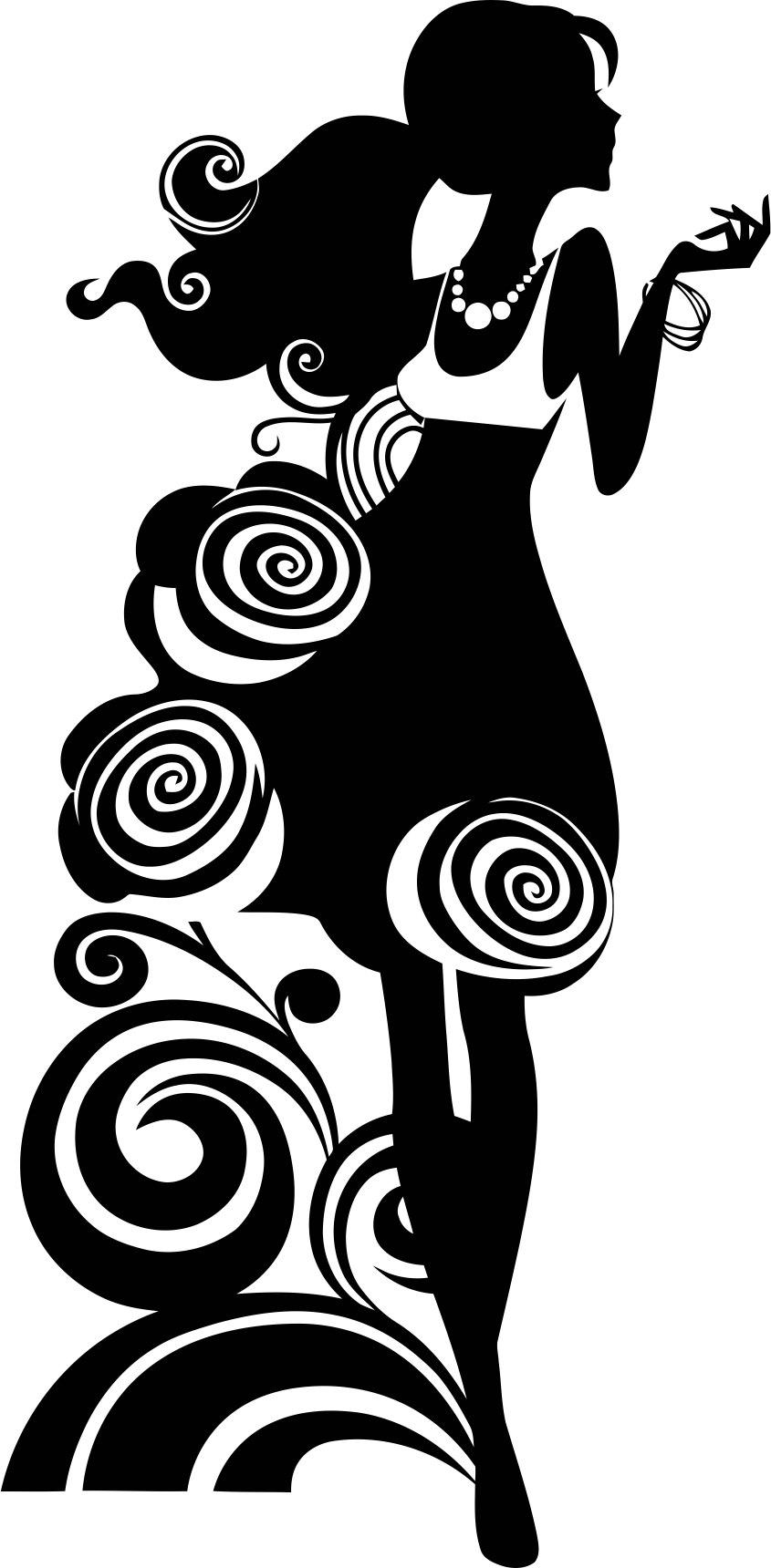 Silhouette Of Elegant Woman File Free CDR Vectors Art