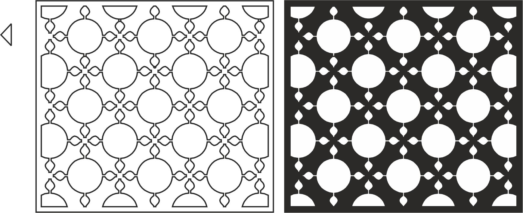 Stunning Room Divider Pattern File Free CDR Vectors Art