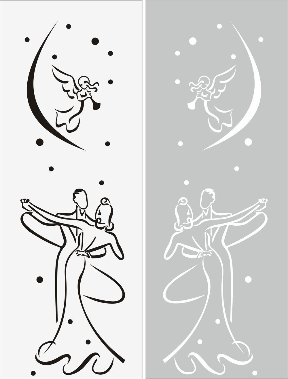 Window Glass Sticker File Free CDR Vectors Art