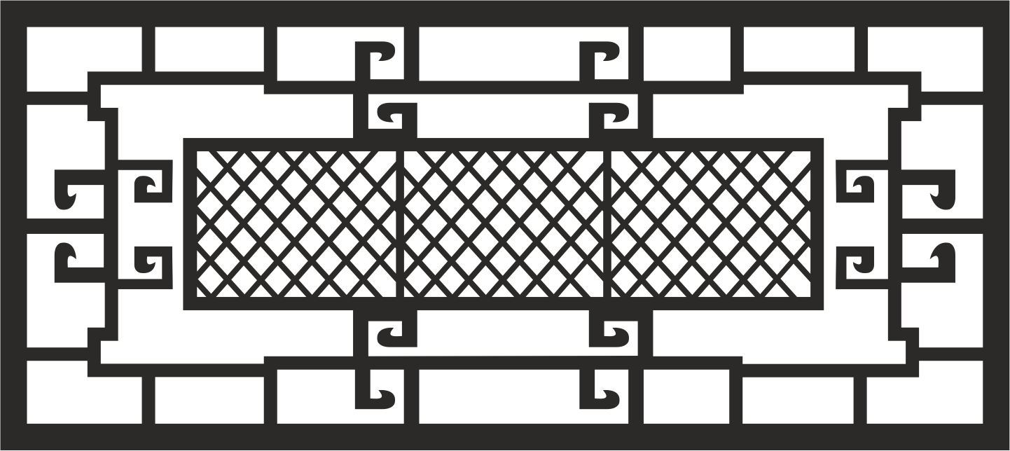 Window Grill File Free CDR Vectors Art