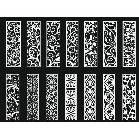 Cnc Panel Laser Cut Pattern File cn-h166 Free CDR Vectors Art