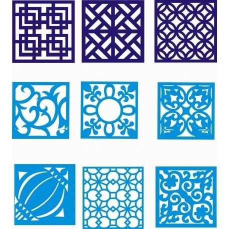Cnc Panel Laser Cut Pattern File cn-h152 Free CDR Vectors Art