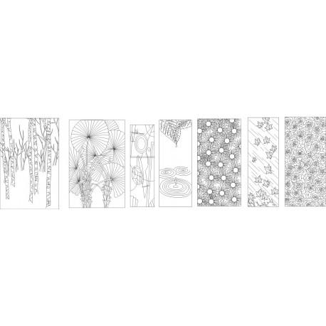 Cnc Panel Laser Cut Pattern File cn-h109 Free CDR Vectors Art