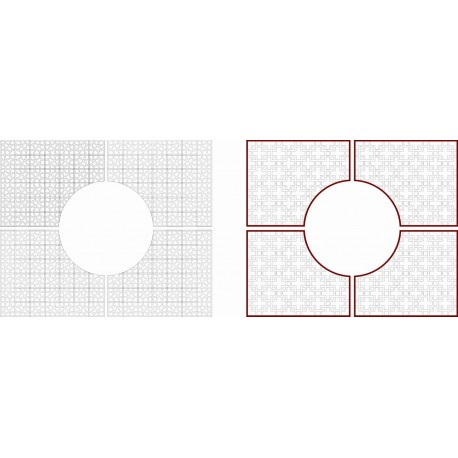Cnc Panel Laser Cut Pattern File cn-h091 Free CDR Vectors Art