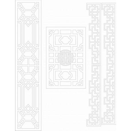 Cnc Panel Laser Cut Pattern File cn-h083 Free CDR Vectors Art