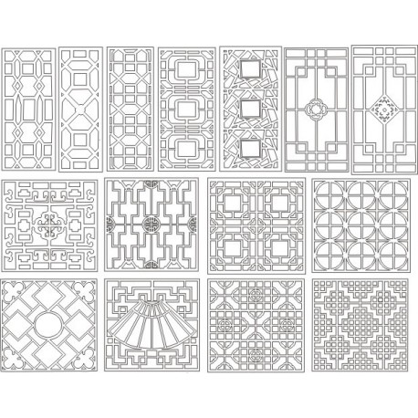 Cnc Panel Laser Cut Pattern File cn-h029 Free CDR Vectors Art