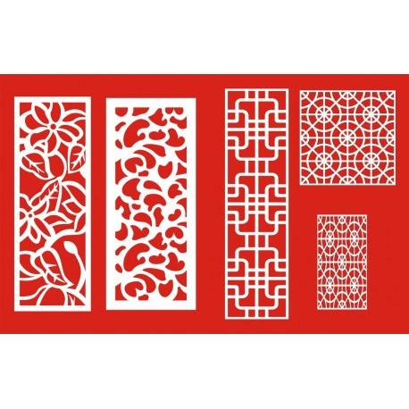 Cnc Panel Laser Cut Pattern File cn-h021 Free CDR Vectors Art