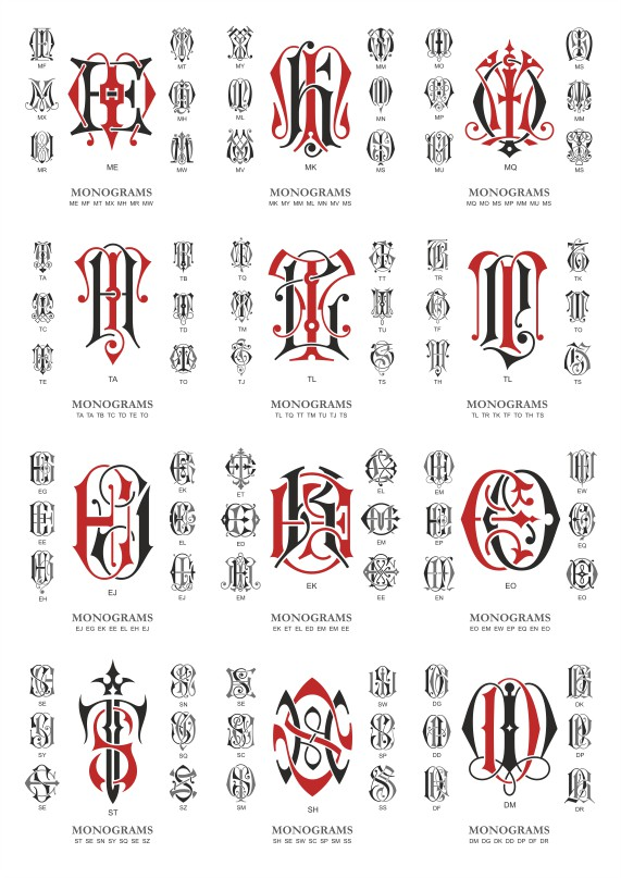 Monogram Collection # 04 Free DXF File