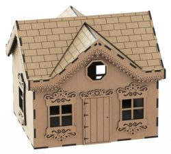 House Box Download For Laser Cut Free DXF File