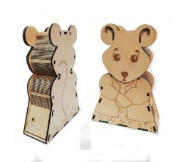 mouse-shaped Box Download For Laser Cut Free DXF File