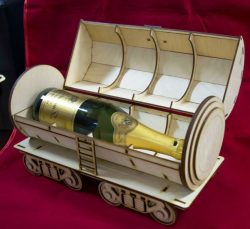 Tank Wine Box Download For Laser Cut Free DXF File