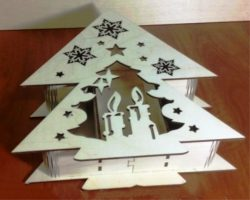 Tree Shaped Box File Download For Laser Cut Free DXF File