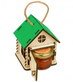 House Shaped Honey Box File Download For Laser Cut Free DXF File