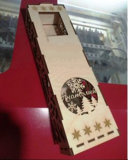 Box Of Champagne Download For Laser Cut Free DXF File