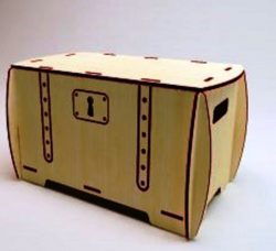 Box With Locks Download For Laser Cut Free DXF File