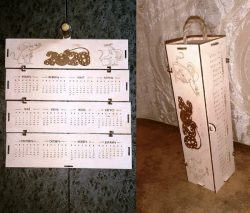 Calendar Box Download For Laser Cut Free DXF File