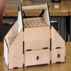 Flight Box Download For Laser Cut Free DXF File