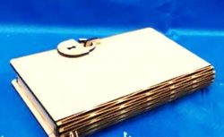 book-shaped Jewelry Box Download For Laser Cut Cnc Free DXF File