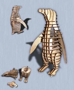 Box Of Penguins And Deer Download For Laser Free DXF File