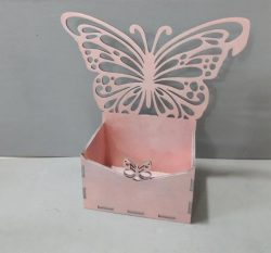 Box With Butterfly Download For Laser Cut Cnc Free DXF File