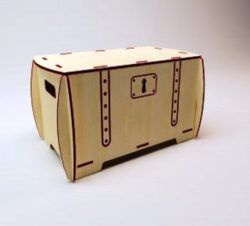 Box With Lock Download For Laser Cut Free DXF File