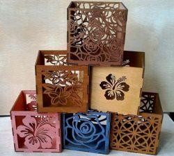 Floral Engraving Box Pattern Free DXF File