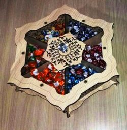 Hexagon Tray Of Candy Box Download For Laser Cut Cnc Free DXF File