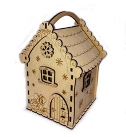 Mouse House Candy Box Download For Laser Cut Plasma Decal Free DXF File