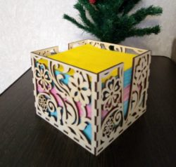 Napkin Box Download For Laser Cut Free DXF File