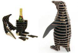 Penguins Wine Box Download For Laser Cut Free DXF File