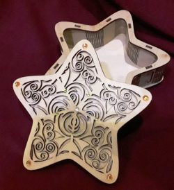 Star Box Download For Laser Cut Cnc Free DXF File