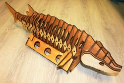Wine Box Shaped Like Silkworm Fish Download For Laser Cut Cnc Free DXF File