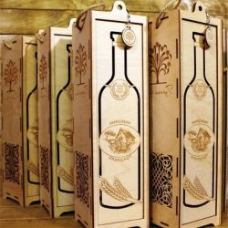 Wooden Box For Wine Download For Cnc Cut Free DXF File