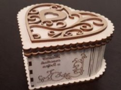 Wooden Heart Box Download For Lasercut Cnc Free DXF File