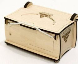 Wooden Jewelry Box Download For Laser Cut Cnc Free DXF File